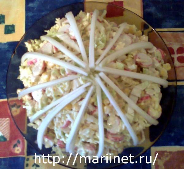 салат кукуруза крабовые палочки капуста