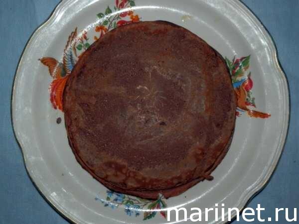 Сладкий блинный торт рецепт с фото